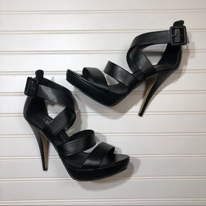 Rock & Republic Orson Black Strappy Heels Size 10